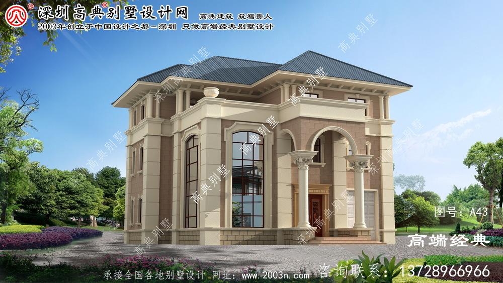 杨浦区新款欧式三层别墅设计图含工程图纸