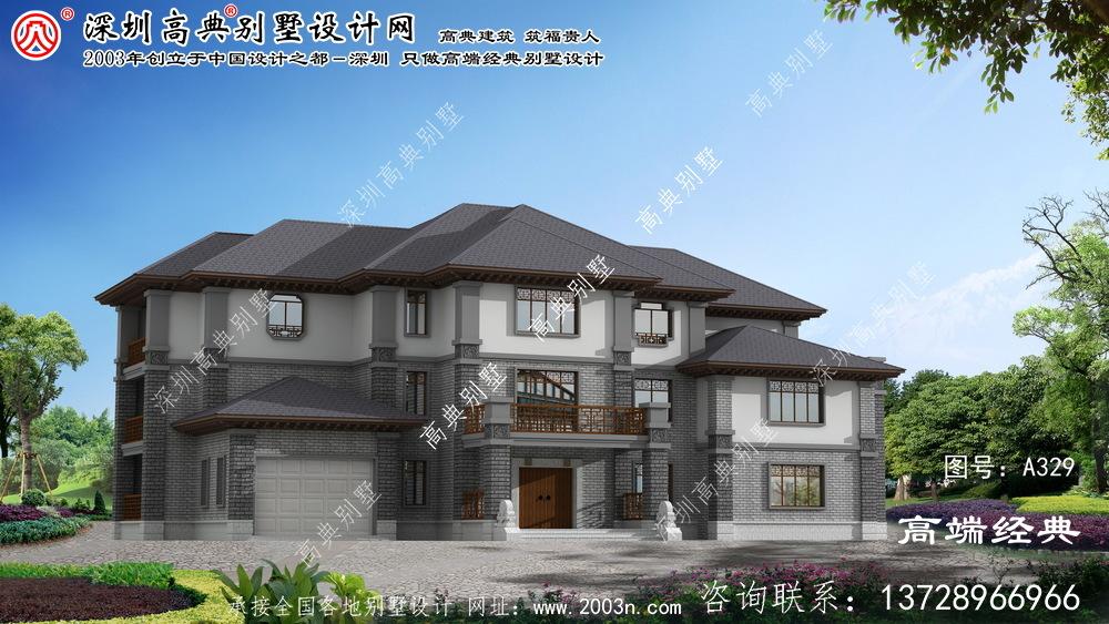 上虞市优雅的三层中式别墅设计图