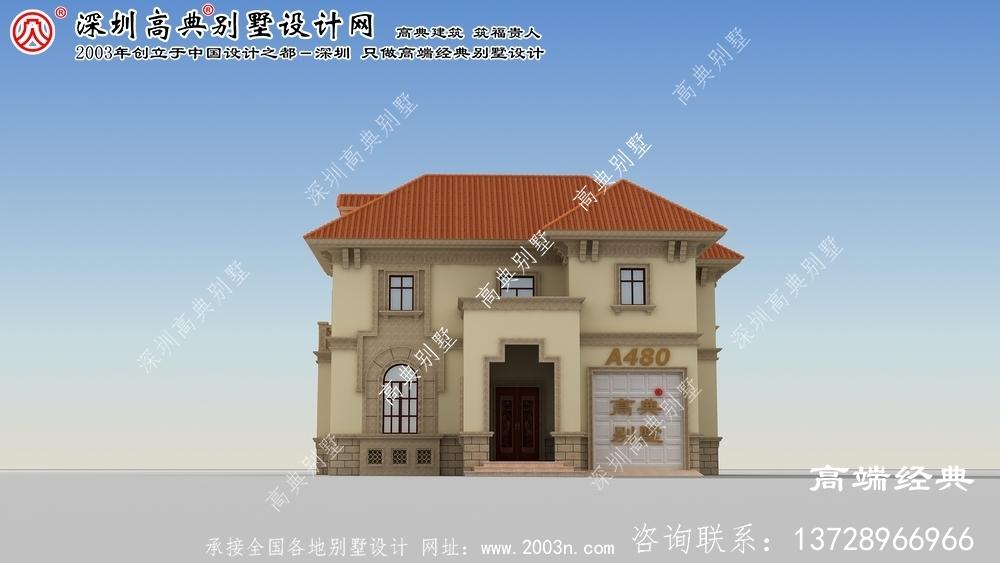 狮子山区两层楼房设计图