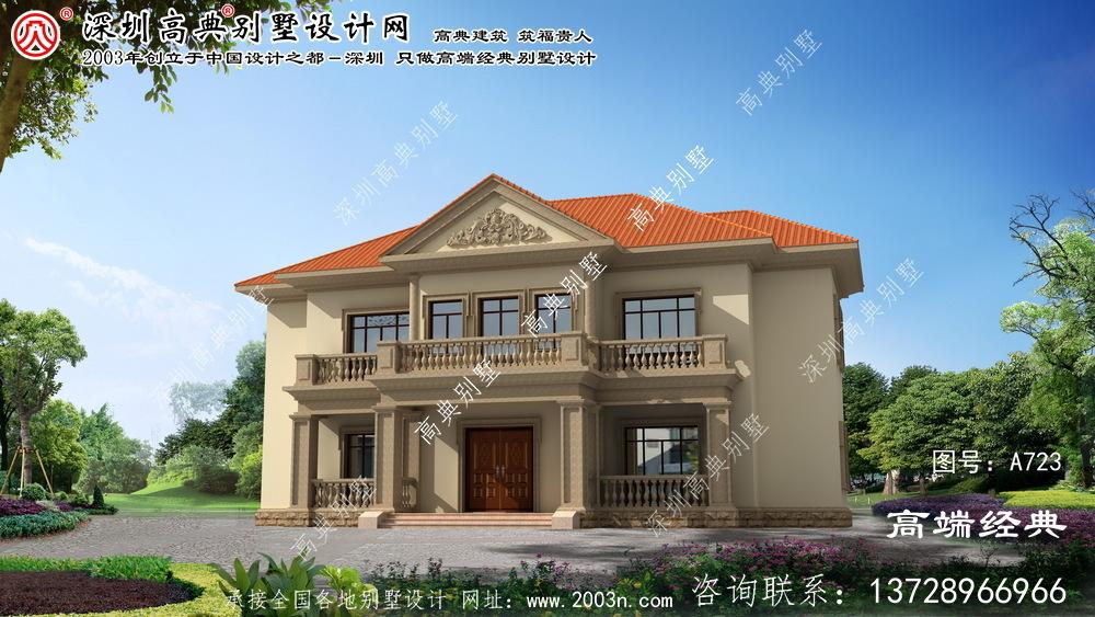 上虞市小别墅房子设计图