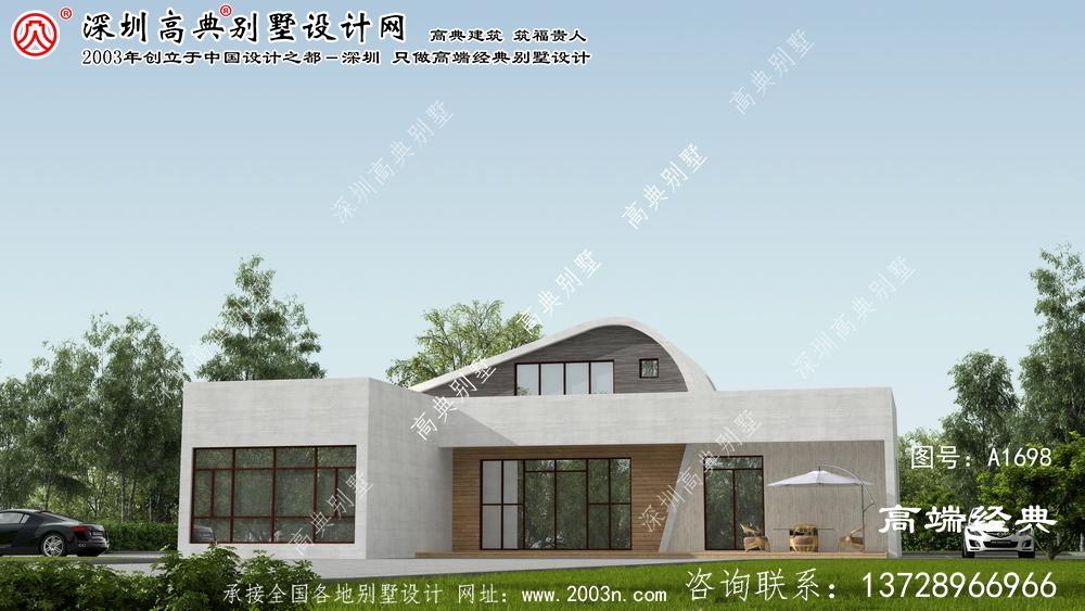阳城县农村自盖两层现代别墅