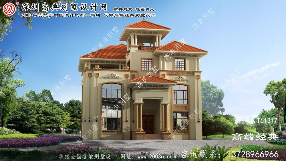 新宾满族自治县150平三层别墅设计图