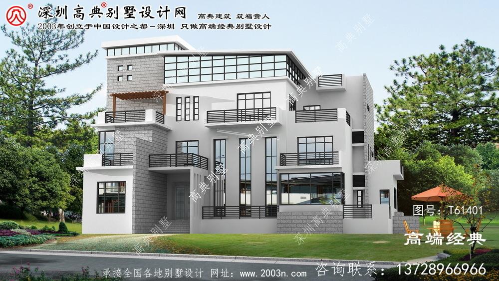 顺城区别墅建筑设计效果图大全