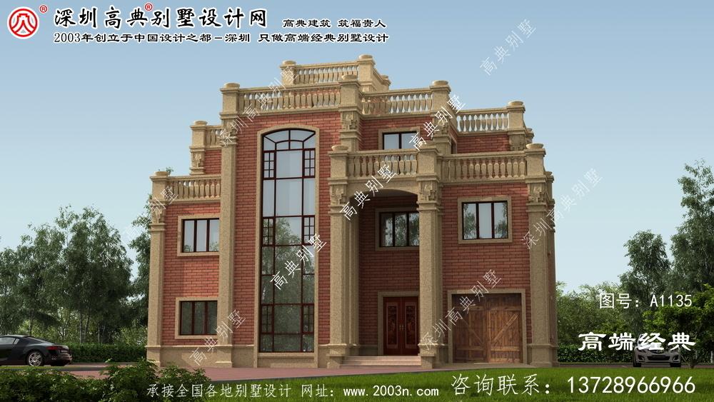 浏阳市北方也适合的别墅设计图