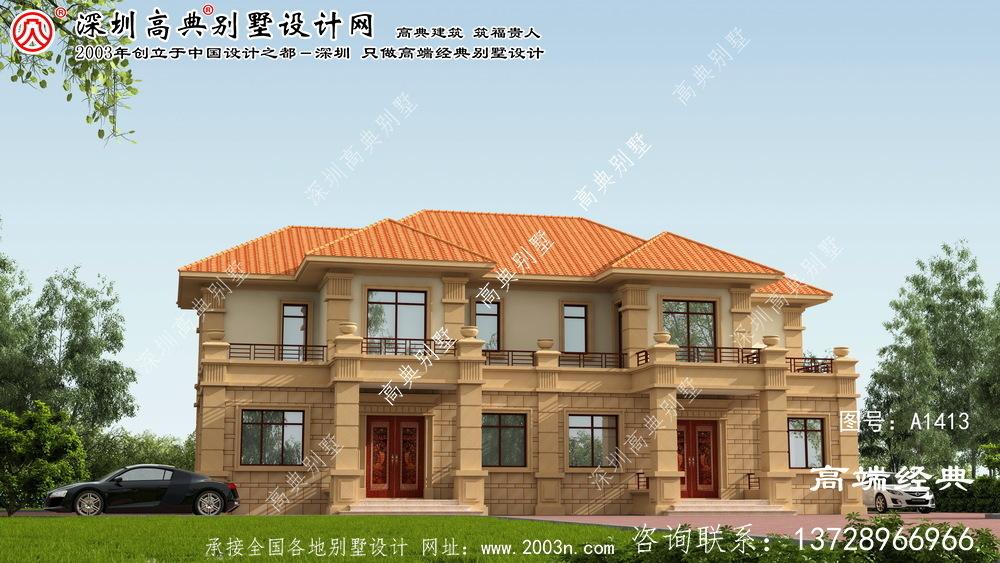 海丰县欧式两层别墅户型图
