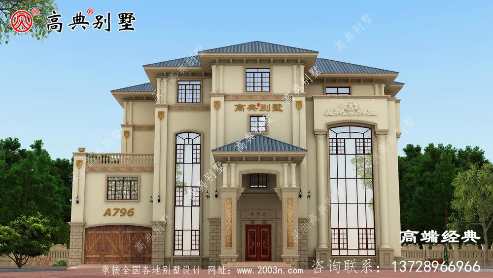 大户型豪华欧式别墅设计图