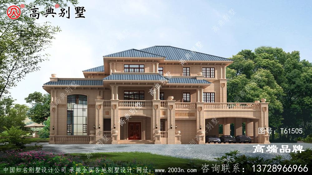 农村房屋别墅,豪华欧式石材