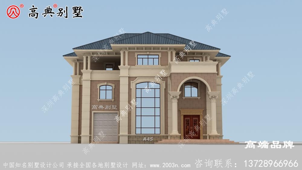 农村建房在线设计配大窗来加强室内通光性。