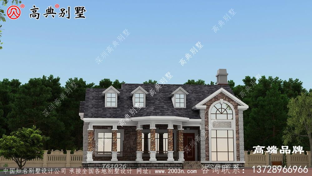 两层别墅外观效果图美式风格,大气耐看