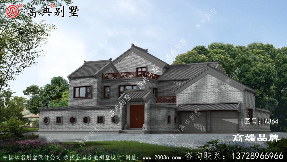 农村256平方房屋设计图造型和层次感非常好