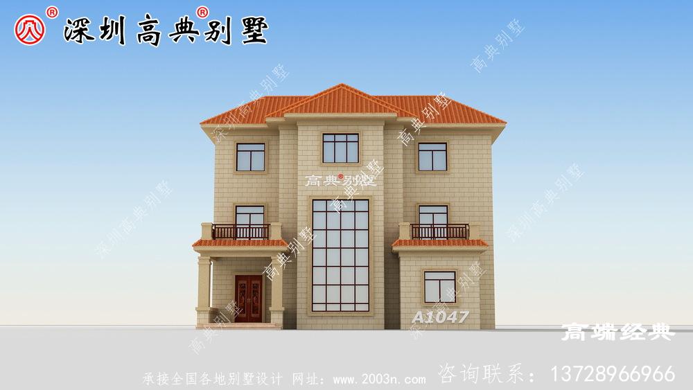 典型 的乡间 三层 别墅 ,供想建新房 的朋友 参考 。