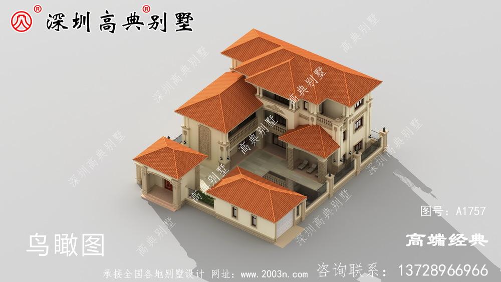 时尚小楼设计图,露台精美大方,越看越喜欢。