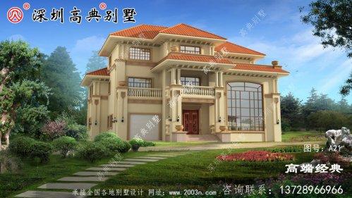 宽21米的三层别墅设计