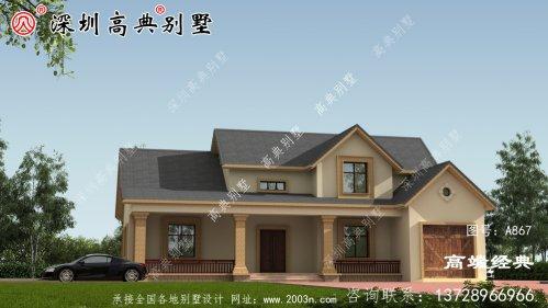二层农村自建别墅设计
