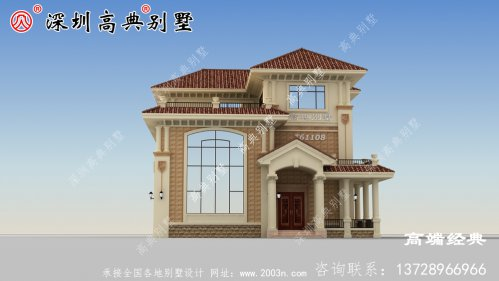 乡村三层别墅设计阳台