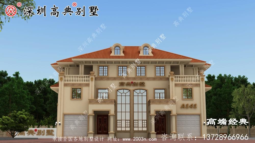 三层带阳台外观图别墅设计,时尚大方又得体