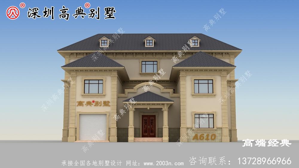 乡村建筑三层图片,户型简洁美观,适合全家居住。